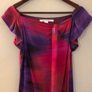 Diane Von Furstenbberg Silk Coctail Dress, Size 2